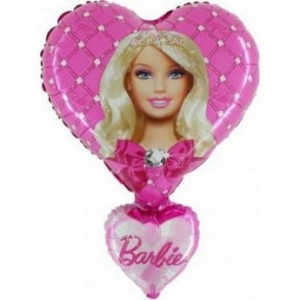 Balon foliowy na hel Barbie